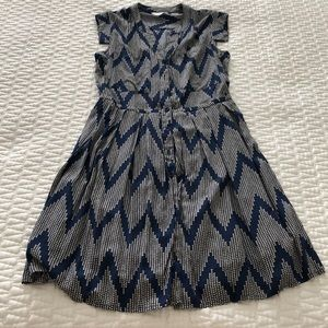 Anthropologie button down pocket dress